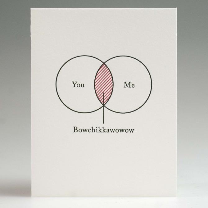 Venn Diagram Romance Card Matthew Carroll Art Director Writer