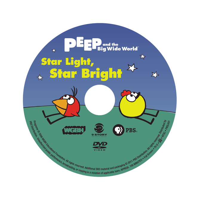 Star Light Star Bright >> Peep and the Big Wide World DVDs - Jonathan Rissmeyer